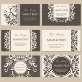 Floral vintage business or invitation cards Stock Image