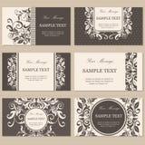 Floral vintage business or invitation cards. Set of floral vintage business or invitation cards Stock Image