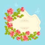 Floral Vintage Card Stock Photos