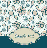 Floral vintage cover Stock Photo