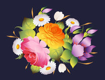 Floral vintage decoration vector background Royalty Free Stock Image