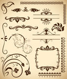 Floral vintage design elements Stock Images