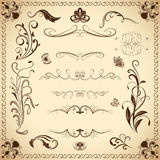 Floral vintage design elements Royalty Free Stock Photography
