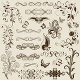 Floral vintage design elements Stock Photography