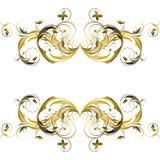 Floral vintage element vector illustration