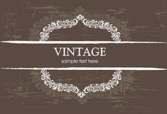 Floral vintage element Royalty Free Stock Images