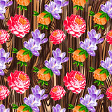 Floral vintage flower pattern vector Royalty Free Stock Photography
