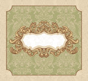 Floral vintage frame Stock Photography