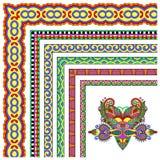 Floral vintage frame design. Vector set Royalty Free Stock Images