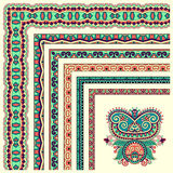 Floral vintage frame design. Vector set. All Royalty Free Stock Photo