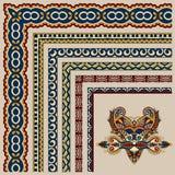 Floral vintage frame design. Vector set Royalty Free Stock Photography