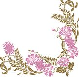 Floral Vintage frame element.  Vector illustration Royalty Free Stock Photography