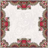 Floral vintage frame, ukrainian ethnic style Royalty Free Stock Images