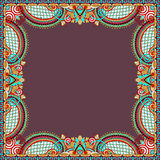Floral vintage frame, ukrainian ethnic style. Royalty Free Stock Photos