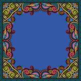 Floral vintage frame, ukrainian ethnic style Royalty Free Stock Photography