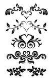 Floral vintage graphics. Stylized floral graphic elements designs Stock Photos