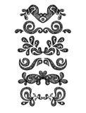 Floral vintage graphics set. A floral vintage graphics set Royalty Free Stock Photo