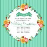 Floral vintage invitation Stock Photo