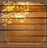 Floral vintage ornament over wood Royalty Free Stock Images