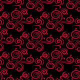 Floral vintage ornaments. Black and red seamless patterns for fabric and wallpaper. Vector illustration Royalty Free Stock Photo