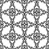 Floral vintage ornaments. Black and white seamless patterns for fabric and wallpaper. Vector illustration Royalty Free Stock Photo