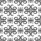 Floral vintage ornaments. Black and white seamless patterns for fabric and wallpaper. Vector illustration Stock Photography