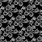 Floral vintage ornaments. Black and white seamless patterns for fabric and wallpaper. Vector illustration Stock Photos