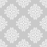 Floral vintage ornaments. Gray seamless patterns for fabric and wallpaper Stock Image