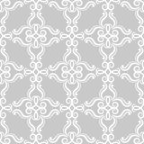 Floral vintage ornaments. Gray seamless patterns for fabric and wallpaper Stock Images