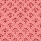 Floral vintage ornaments. Red seamless patterns for fabric and wallpaper Stock Photo