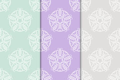 Floral vintage ornaments. Seamless patterns for fabric and wallpaper Stock Photos