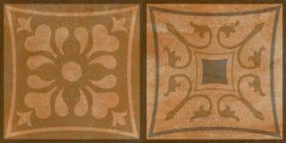 Floral vintage pattern dark brown background stock images