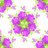 Floral vintage pattern, seamless old background. Stock Photo