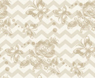 Floral vintage rustic seamless pattern Stock Photo