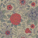 Floral vintage seamless pattern Royalty Free Stock Image