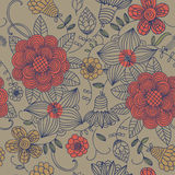 Floral vintage seamless pattern Stock Photo