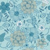 Floral vintage seamless pattern Stock Image