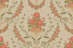 Floral vintage seamless pattern stock photography
