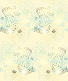 Floral vintage seamless pattern Royalty Free Stock Photo