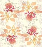 Floral vintage seamless pattern Stock Photos