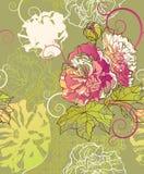 Floral vintage seamless pattern Stock Photo