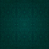 Floral vintage seamless pattern on a green background Stock Images