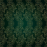 Floral vintage seamless pattern on green background Stock Photography