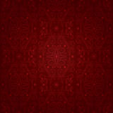 Floral vintage seamless pattern on a red background Stock Image