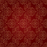 Floral vintage seamless pattern on red background. Vector illustration Royalty Free Stock Photos