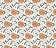 Floral vintage seamless pattern for retro. Vintage Seamless background pattern with floral tracery Stock Photography