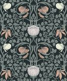 Floral vintage seamless pattern for retro wallpapers. Enchanted royalty free illustration