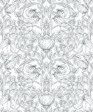 Floral vintage seamless pattern for retro wallpapers. Enchanted Stock Image