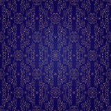 Floral vintage seamless pattern on violet background. Vector illustration Royalty Free Stock Photos
