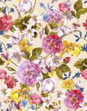 Floral Vintage Seamless Watercolor Background Royalty Free Stock Photography
